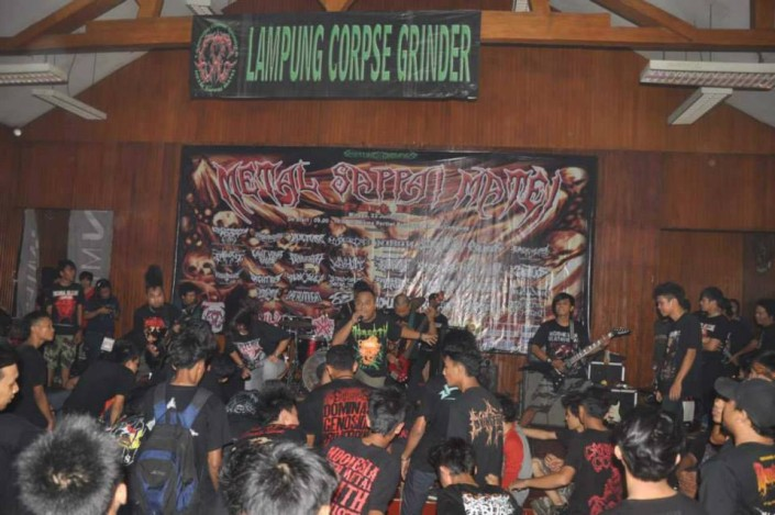 NISAN live Lampung Metal Fest