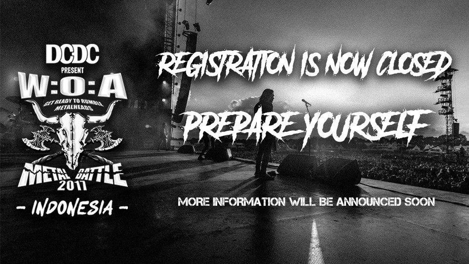 Registrasi Wacken Metal Battle Indonesia 2017 Ditutup!