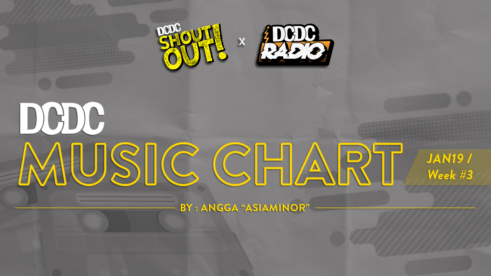DCDC Music Chart - #3rd Week of January 2019