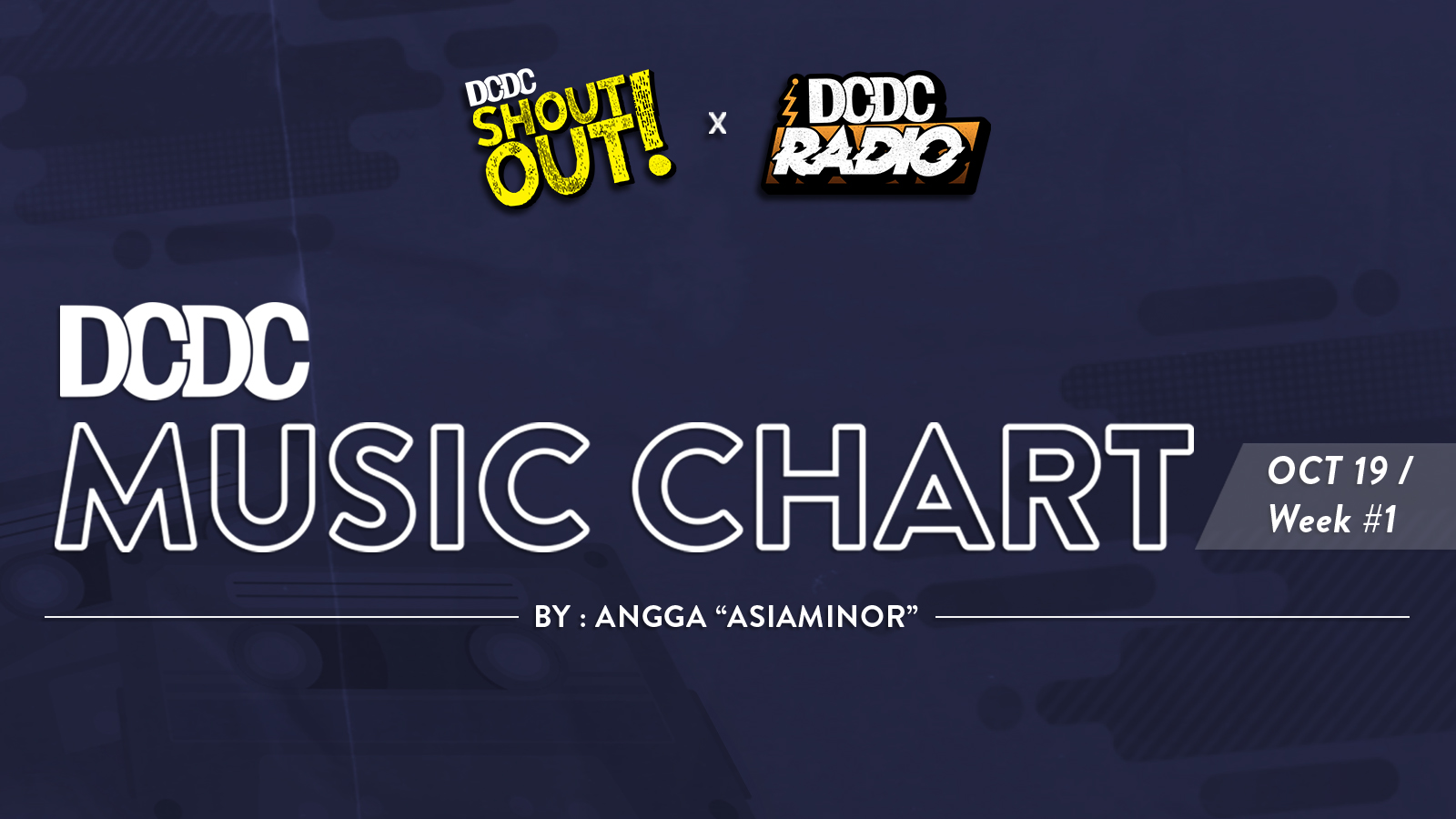 DCDC Music Chart - #1st Week of October 2019