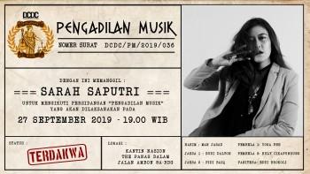 Rilis Album Solo Perdana, Sarah Saputri Dipanggil Pengadilan