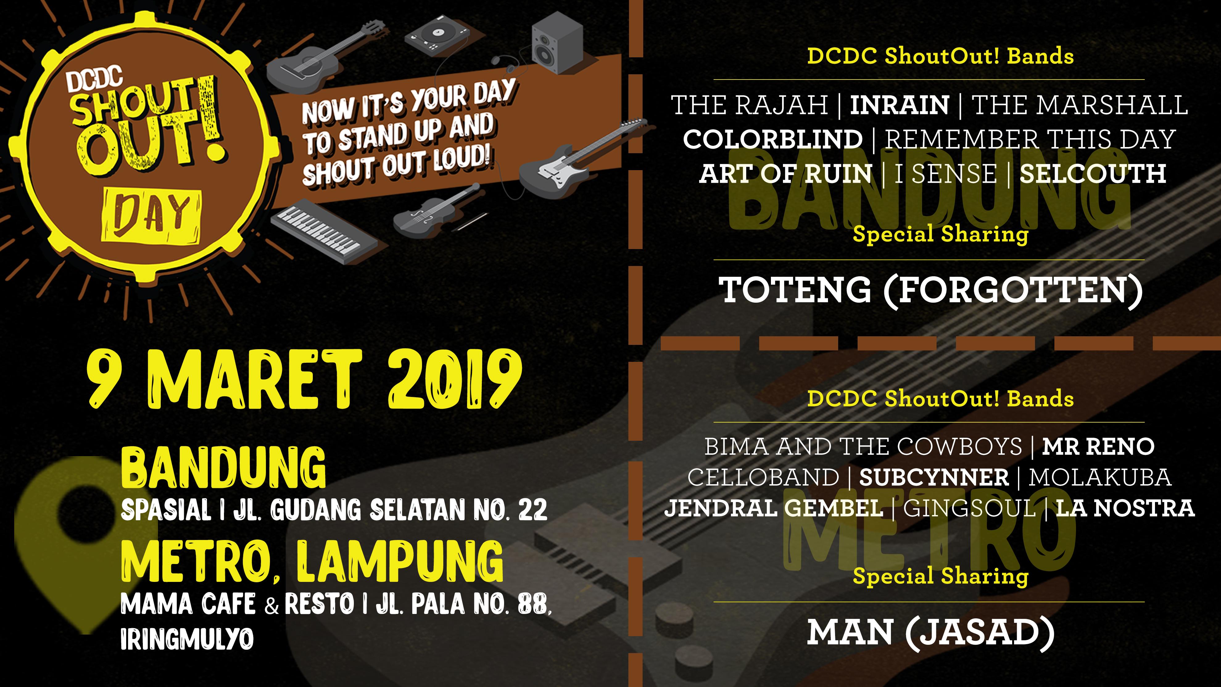 Sabtu Ini, DCDC ShoutOut! Day Hadir di Dua Kota!