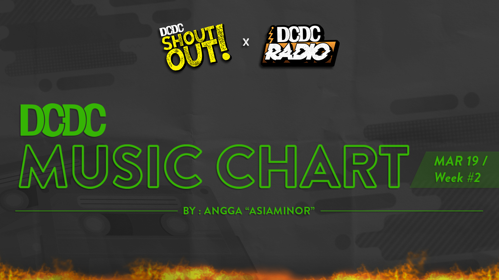 DCDC Music Chart - #2nd Week of March 2019